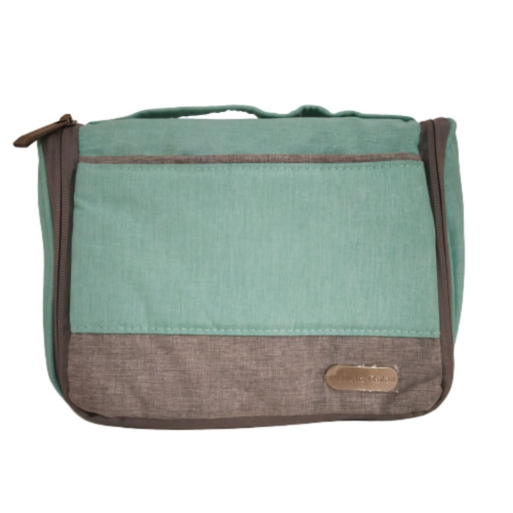 travel pouch with compartments for toiletries