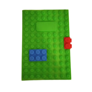 Green lego notebook to play with lego blocks
