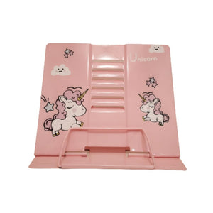 Pink unicorn book stand