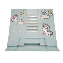 Load image into Gallery viewer, Light blue unicorn book holder