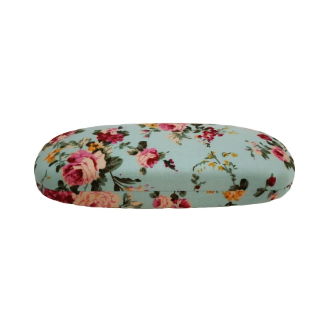 Floral english rose print sunglass case