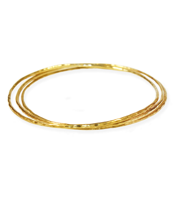 14k gold bangle set