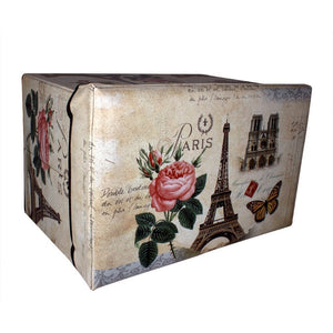 Rectangle folding storage box with paris eiffel tower design