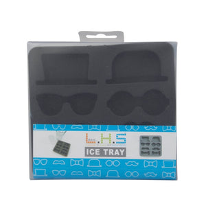 Ice cube tray hats bows glasses moustache in box