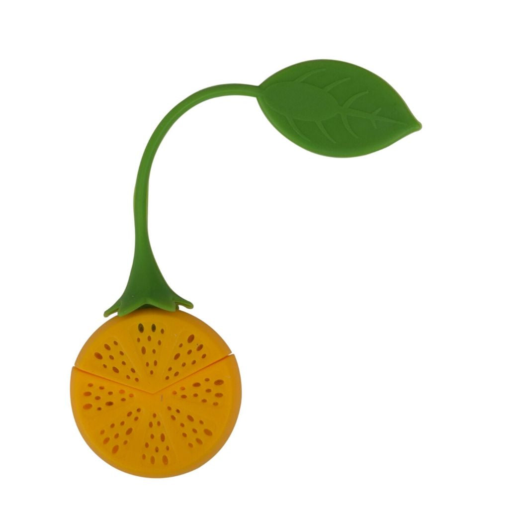 Silicone orange tea strainer