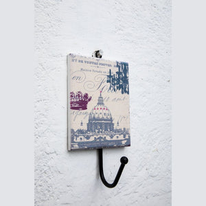 Vintage wall hook parisian shabby chic design