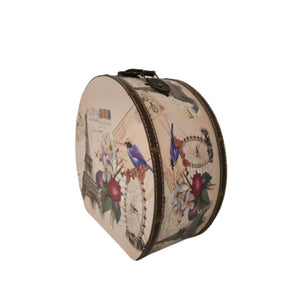 Storage in a vintage hatbox parisian look