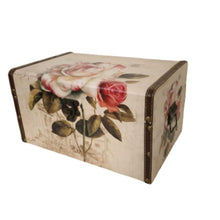 Load image into Gallery viewer, Vintage floral design trunk