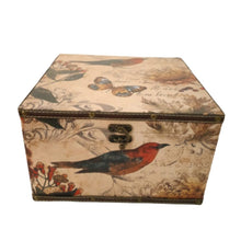 Load image into Gallery viewer, Floral bird vintage design trunk box
