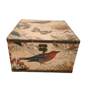 Floral bird vintage design trunk box