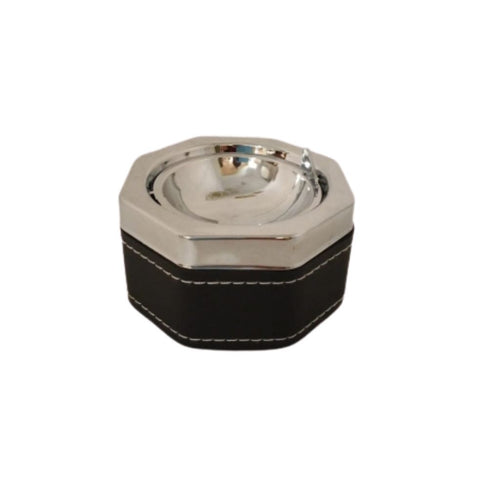 Metal hexagon shaped ashtray for home, office or outdoor use