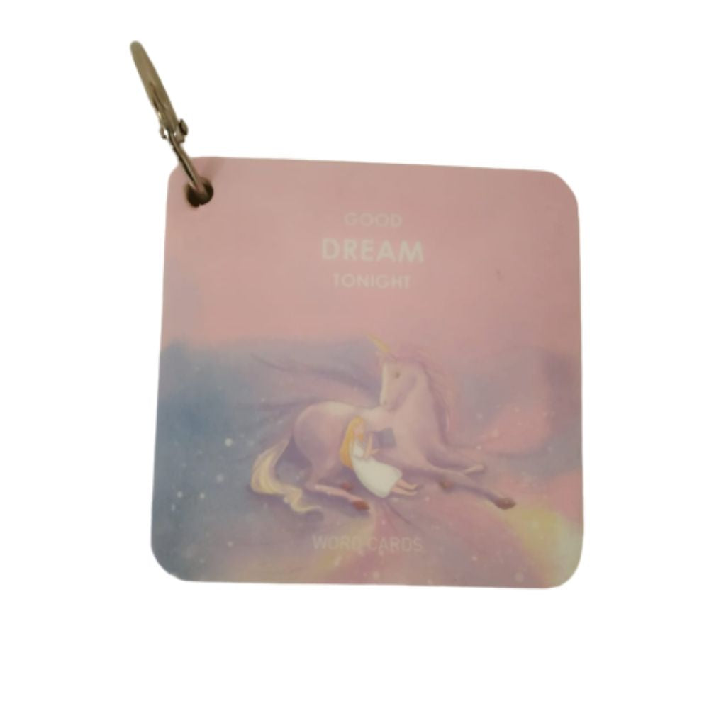 Pink unicorn cover mini memo pad with ring
