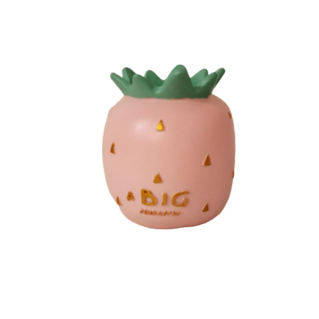 Ceramic pink pineapple pen stand