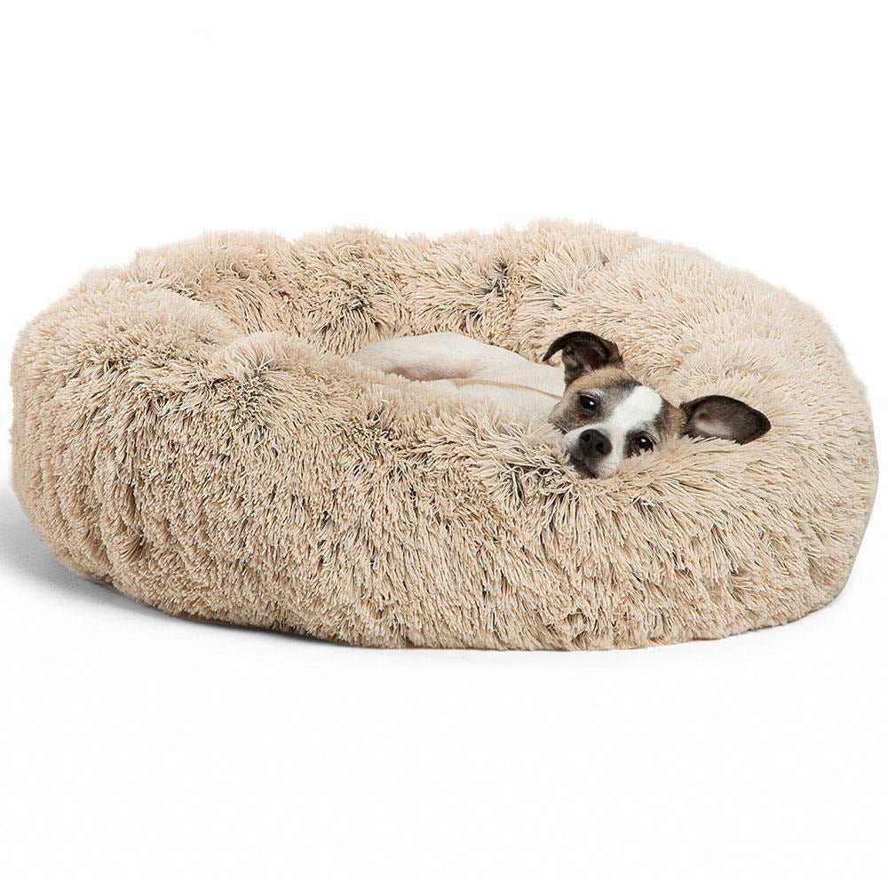 Calming Bed For Dogs & Cats Anti Anxiety - LazySelect