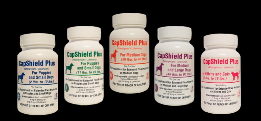 Capshield Plus Once A Month Flea Pills for Dogs & Cats 6 Month Supply