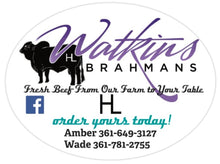Load image into Gallery viewer, WATKINS BRAHMANS USDA INSPECTED FRESH STEW MEAT