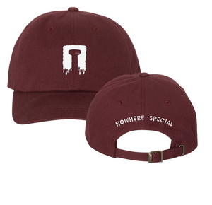 """nowhere special recordings"" maroon dad hat"