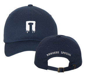 """nowhere special recordings"" navy dad hat"