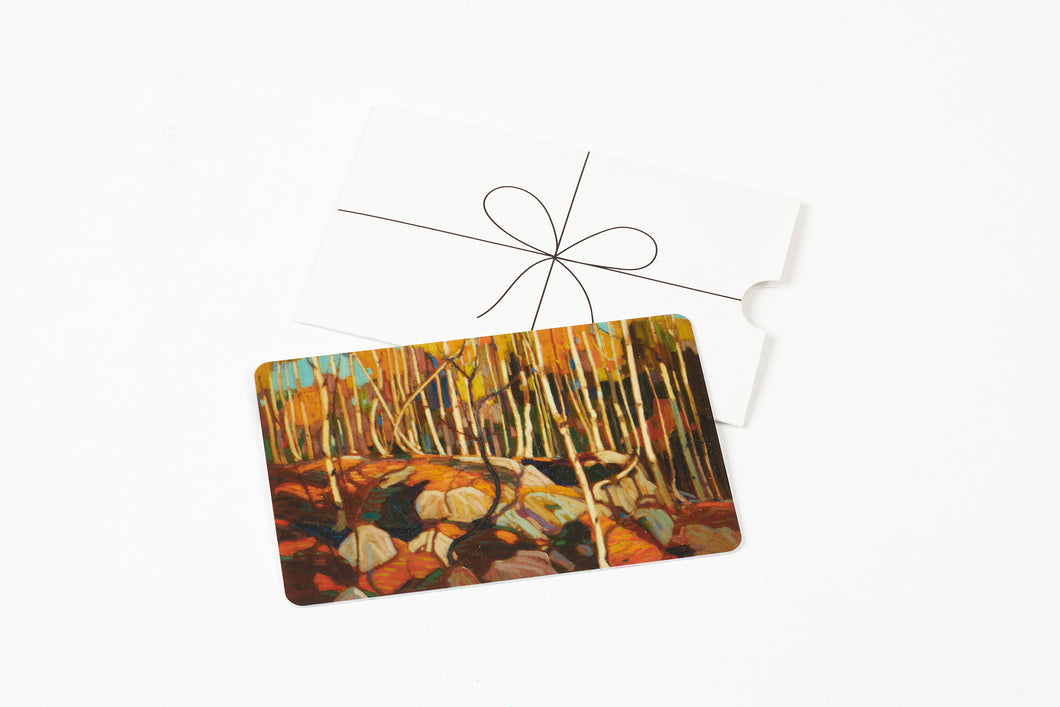 Tom thompson, canadian art, art gallery of hamilton gift card, shop at agh gift card