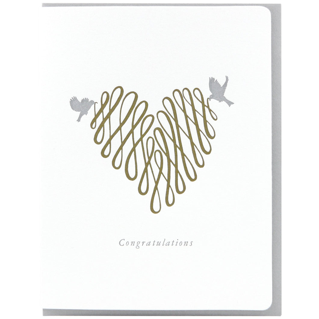 Congratulations Heart Card