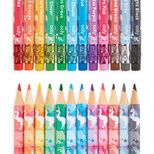 Load image into Gallery viewer, Unique Unicorns Pencil Crayons Set of 12