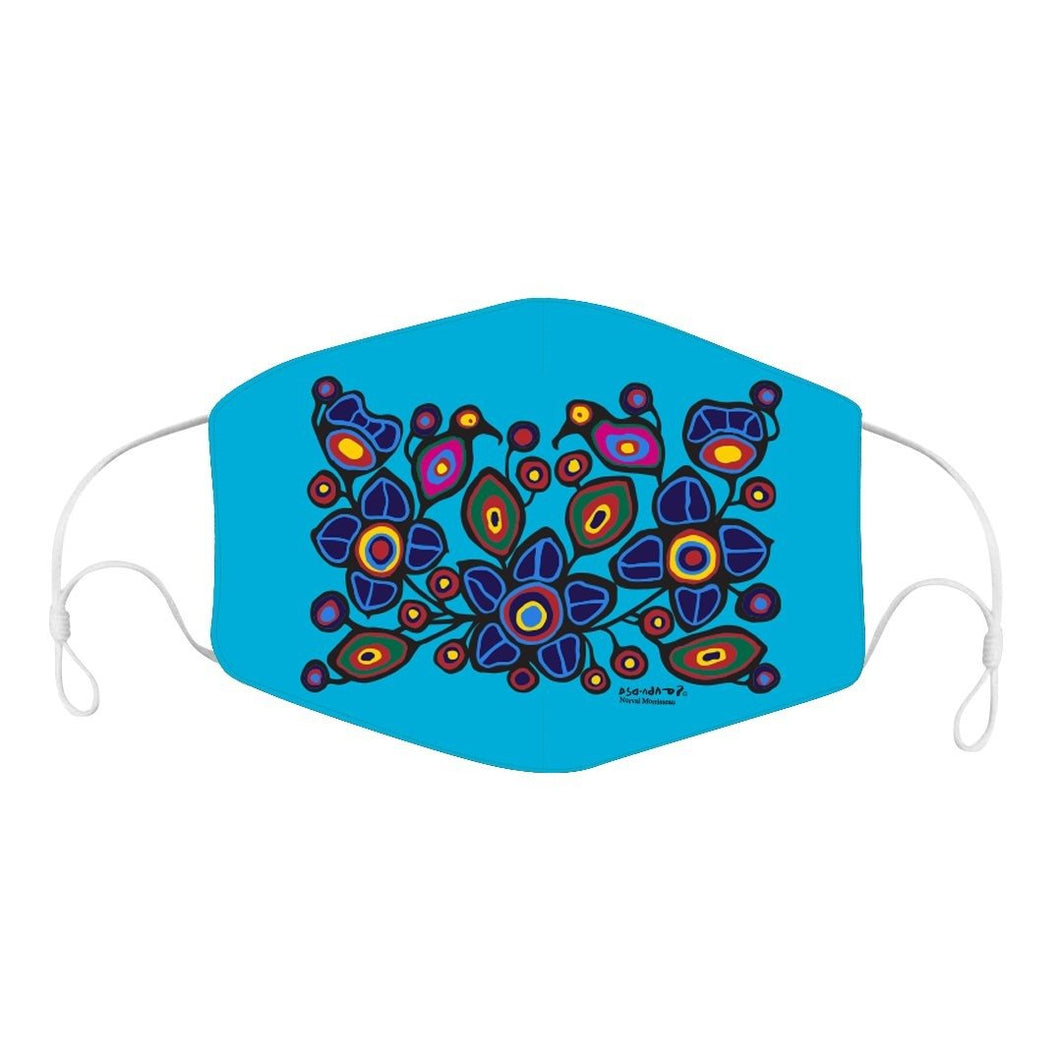 Norval Morrisseau Flowers and Birds Face Mask