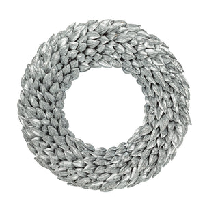 Metallic Pod Wreath Silver