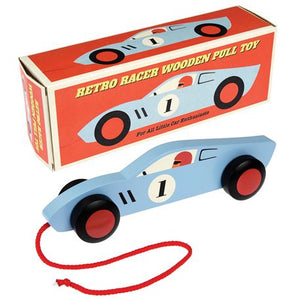 Blue Retro Racer Pull Toy