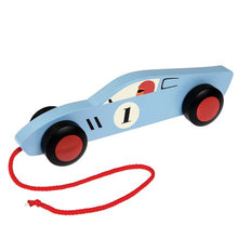 Load image into Gallery viewer, Blue Retro Racer Pull Toy