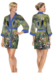 monet bathrobe, short robe, art robe