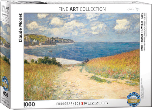 Path through the wheatfields puzzle, monet puzzle