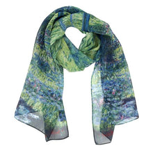 Load image into Gallery viewer, Monet Japanese Bridge Scarf