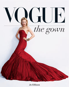 vogue the gown, vogue book, red gown
