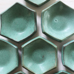 Hexagon Mini Dish-Emerald