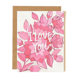 Pink Floral Love Card