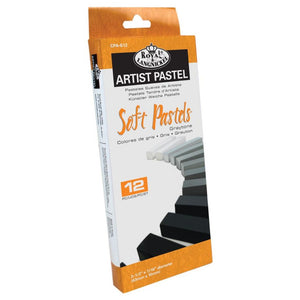 Soft Artist Pastels set, 12 pieces, Graytone, Rpyal & Langnickel