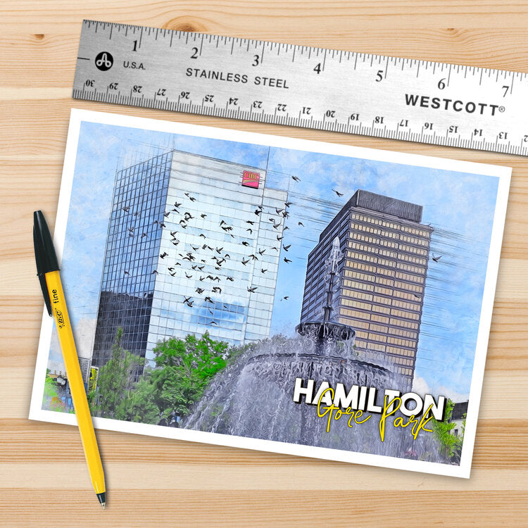 ryan carpenter postcard, hamilton gore park postcard, hamilton ontario, gore park, postcard, ryan carpenter photographer