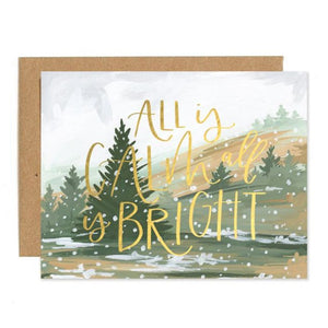 Christmas card, winter landscape, Christmas song lyrics