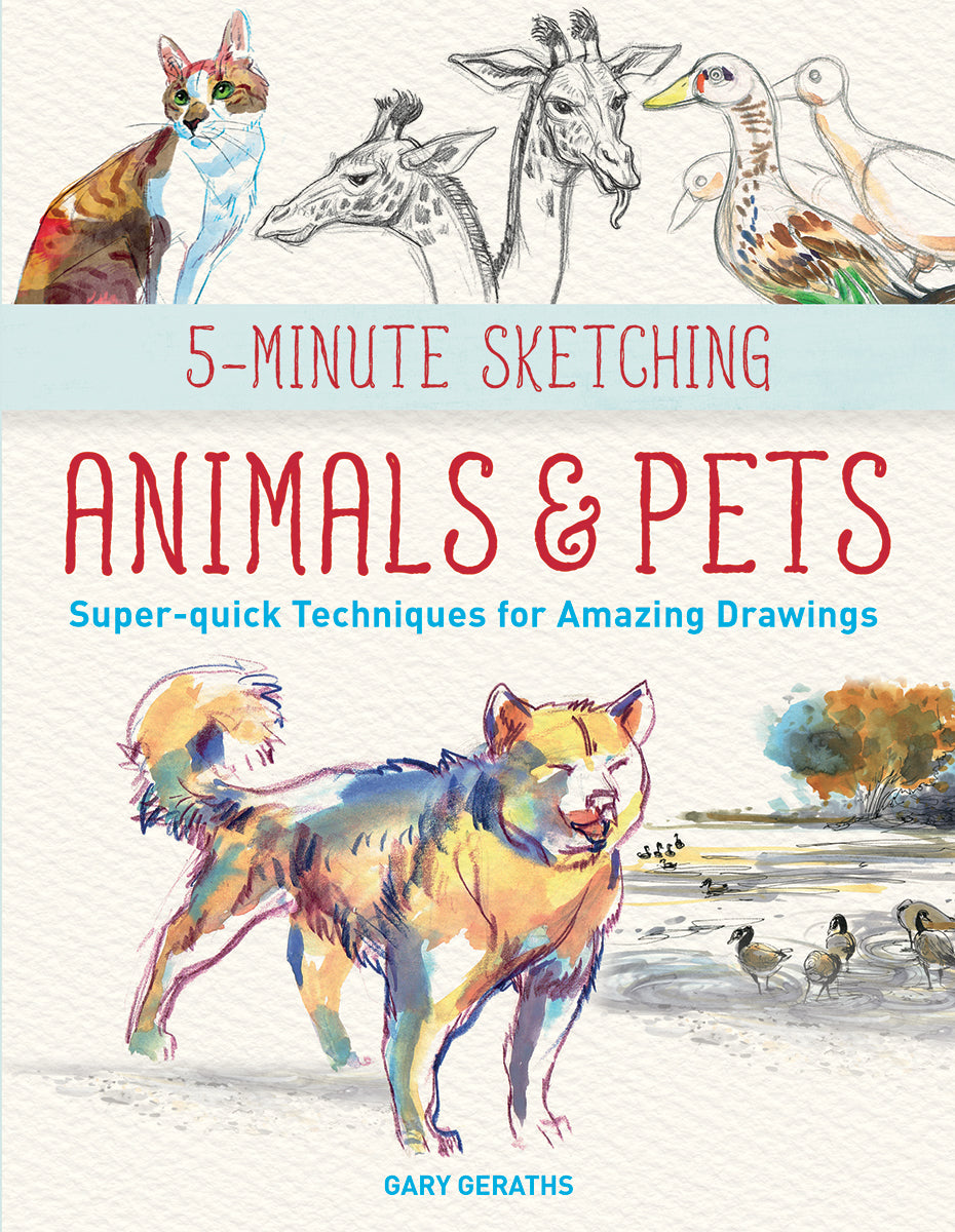5-mimute Sketching book, Animals and Pets, Sketching Technique