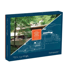 Load image into Gallery viewer, frank llyod wright, puzzle, fallingwater, frank llyod wright double sided 500 piece puzzle