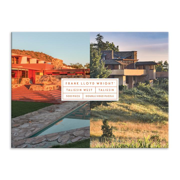 frank lloyd wright puzzle, taliesin puzzle, two sided lloyd wright puzzle, 500 piece puzzle