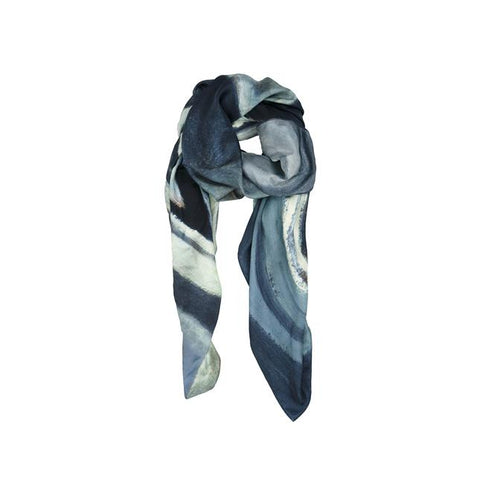 lawren harris scarf, harris abstract sketch, abstract sketch, silk scarf, art scarf, blue scarf