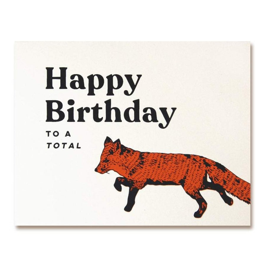 happy bday to a total fox illustrated fox