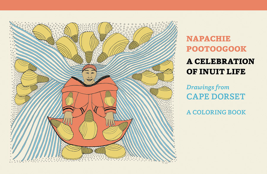 Napachie Pootoogook, colouring book, coloring book, inuit art