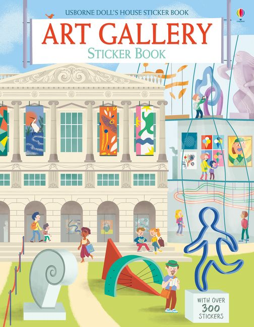 Art Gallery sticker book, art book, stickers
