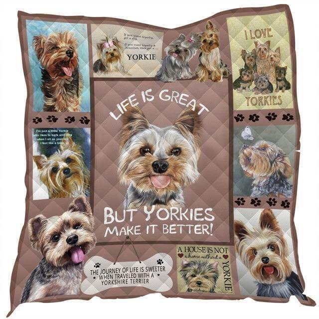 Beautiful Yorkie 3D Printed Quilt - Pawgood