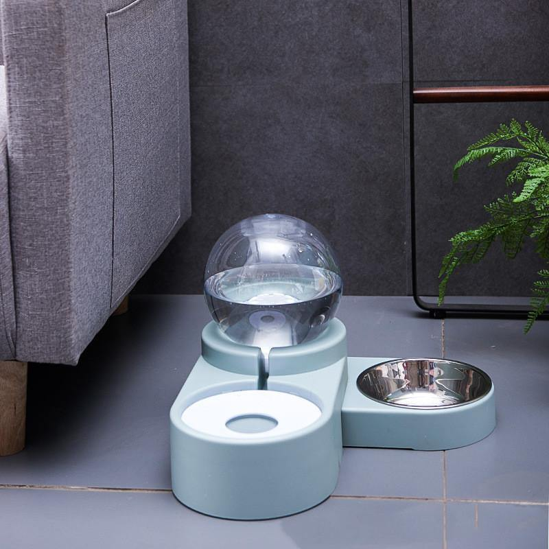 Automatic Pet Water Dispenser with Feeder Bowl - Pawgood