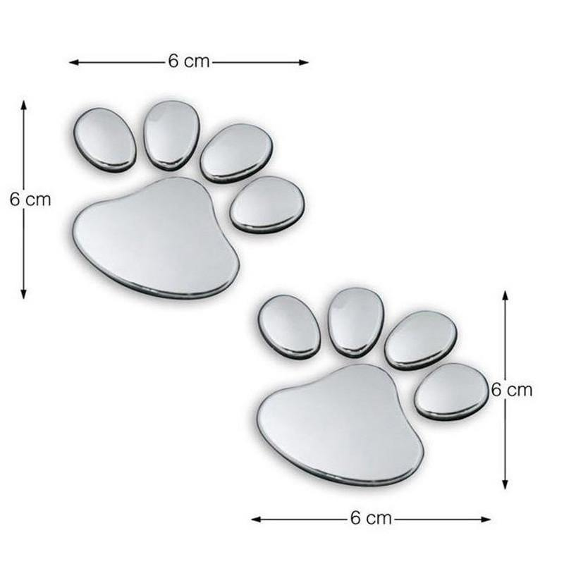 3D Paw Car Sticker - Pawgood