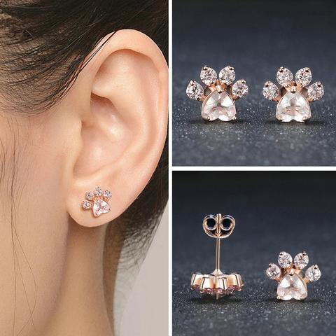 Rose Gold Paw Earrings (50% OFF Today) - Pawgood