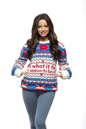 Festive Flutters: Love Island Knitted Christmas Jumper